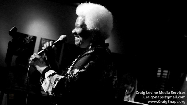 """Barbara Morrison, holding Court:  """"You Don't Know What Love Is"""" with John Hamilton (bass), Paul Kreibich (drums), and Peggy Duquesnel Malbon (piano)"""