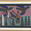 Hunter and Birds.  1972.  22 x 32 in. (55.9 x 81.3 cm.)