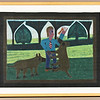 Boy with Dogs. 1973.  18 3/4 x 25 in. (47.6 x 63.5 cm.)