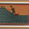 Man Surfing.  1972.   22 x 32 in. (55.9 x 81.3 cm.)