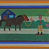Man with Horse.  1972.  22 x 32 in. (55.9 x 81.3 cm.)