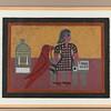 Girl and Bird.  1973.  19 x 24 in. ( (48.3 x 61 cm. )