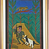 Hunter with Dog.  1971.   22 x 32 in. (55.9 x 81.3 cm.)