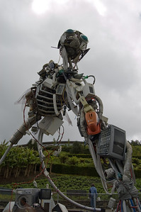 WEEE Man (1)This creation is made up of Waste from Electrical and Electronic Equipment, hence he's called WEEE Man