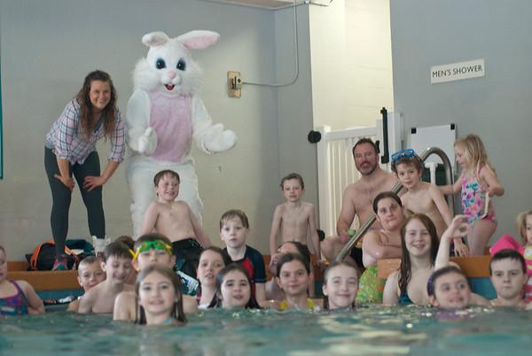 Easter Egg Hunt in a Pool