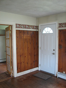 Front door from the inside we will keep, it has storm/screen door as well, so we can keep light & air coming into room.