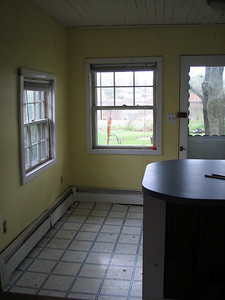 Right side of kitchen, before renovating.
