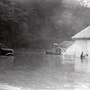 Garage Building at CC  Camp at Mortimer during flood August 13, 1940