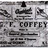 G. F. Coffey Advertising Sign.