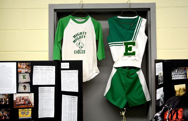 Various pieces of memorabilia were on display at the Edgewood Grade School Open House over the weekend.