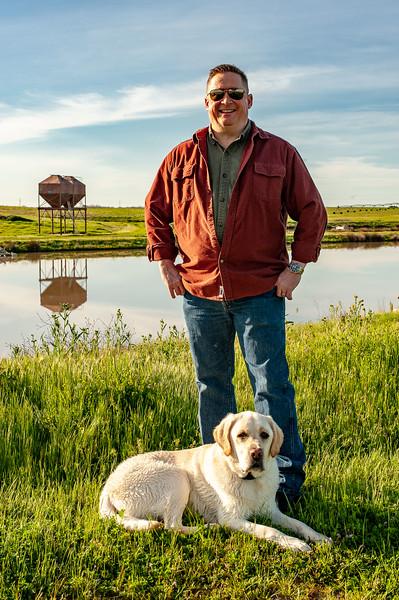 Mike and his dog, Mattis.