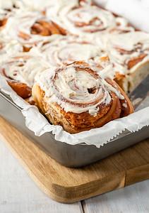 Fresh baked cinnamon rolls