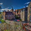 Fence With Leaves, Dean Village, Edinburgh Scotland