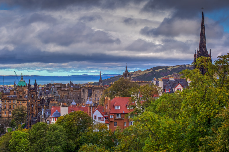 Church Spires, Edinburgh Scotland