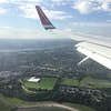 Looking out the window as we land Norwegian airlines   First glimpse of Edinburgh