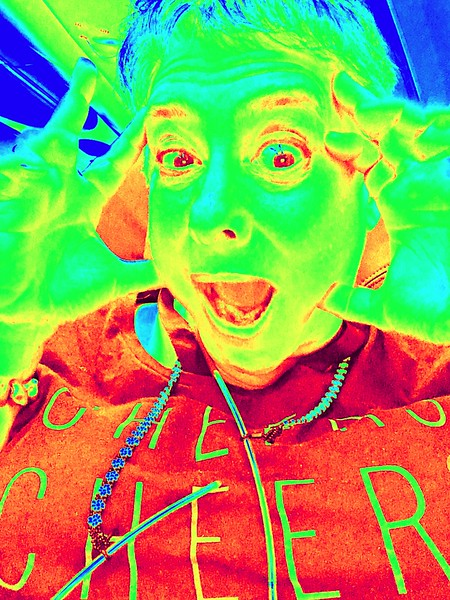She devil Lisa  fun with iPhoto booth. Kaleidoscope  CHEERS