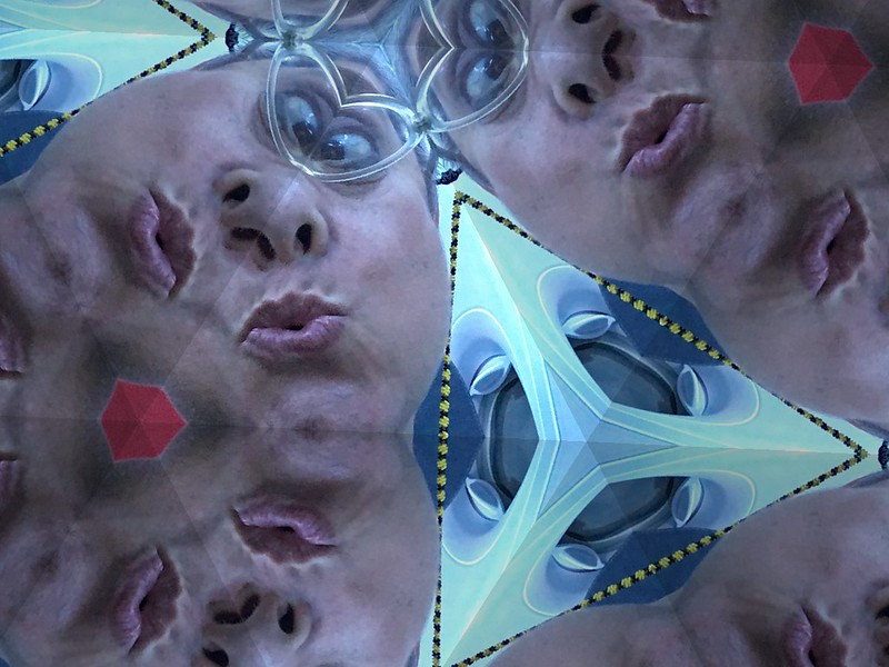 Lisa Teiger Lips and Eyes  fun with iPhoto booth. Kaleidoscope