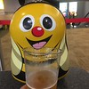 Buzzie Jr enjoys a beer at Stewart Airport waiting to depart