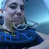 Lisa Teiger-  fun with iPhoto booth   Looking out the plane window