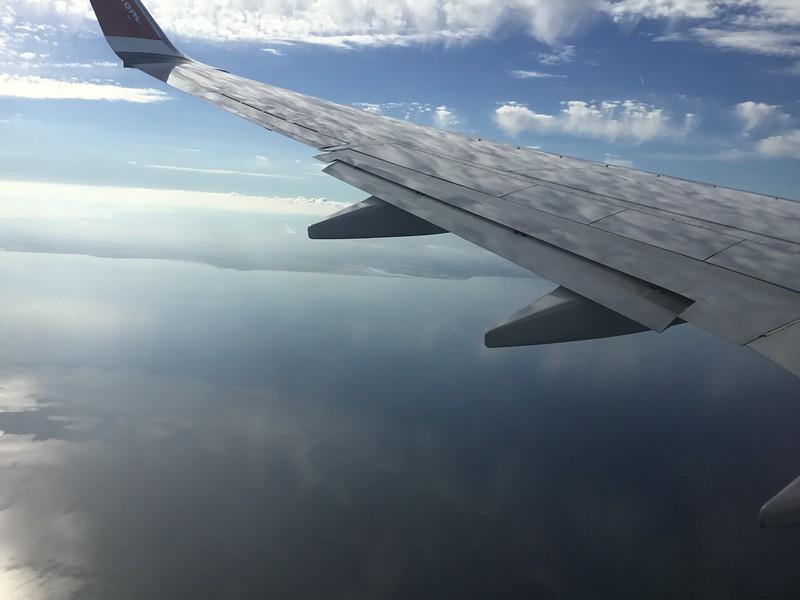 Cloud reflections Norwegian airlines