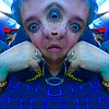 fun with iPhoto booth effects  Lisa Teiger with multiple heads