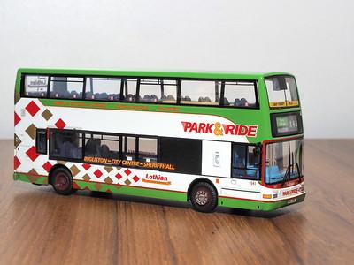 Edinburgh Corporation & Lothian model bus photographs