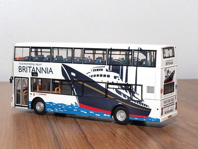 CMNL UKBUS4007 Lothian Buses Volvo Olympian Alexander Royale 433 route X50 to Britannia