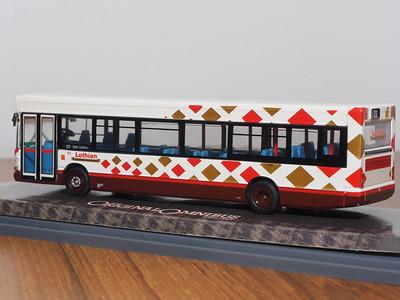 Corgi OOC OM44701 Lothian Buses Dennis Dart SLF Plaxton Pointer Harlequin livery