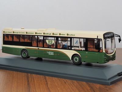 Corgi OOC OM46703B Lothian Buses (East Lothian) Volvo B7RLE Eclipse II route 113 to Western General