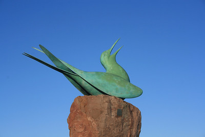 Arctic Tern Statue, Scottish Seabird Centre, North Berwick, East Lothian.
