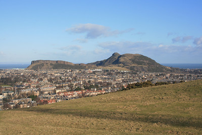 Arthurs Seat from Blackford Hill, Edinburgh.
