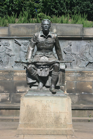 Scottish American war memorial, Princes Street Gardens, Edinburgh.