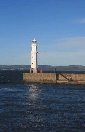 Newhaven harbour Lighthouse, Edinburgh.