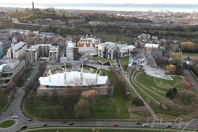 Dynamic Earth, Scottish Parliament and Calton Hill, Edinburgh