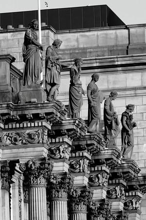British Linen Bank statues