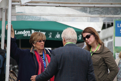 Prue Leith and entourage at the Book Festival