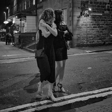 Hugging Herself against The Cold.  #EdinburghNights