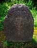 Ancient Stone with Runic Inscription