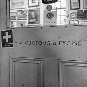 HM Customs and Excise, At Georgian Antiques, Doors Open Day 2017, Leith, Edinburgh.