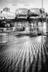 Buses (Double Exposure).