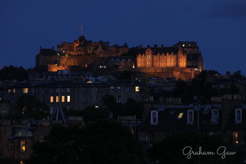 Edinburgh Castle in the evening