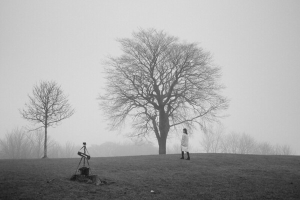 Misty Self Portrait, Calton Hill, Edinburgh.