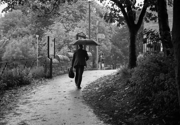 Towards Scotland Street In The Rain.