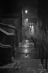 On A Damp Night, Grassmarket, Edinburgh.