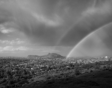 Double Rainbow, Arthur's Seat, Edinburgh.