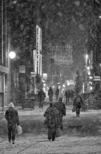 Snow On Rose Street, Edinburh.