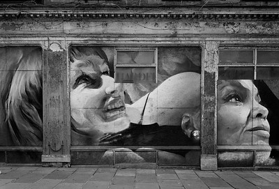 Seven Deadly Sins Mural by Guido van Helten, Leith Walk, Edinburgh.