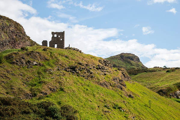 Looking up to St Anthony's Chapel and Arthur's Seat