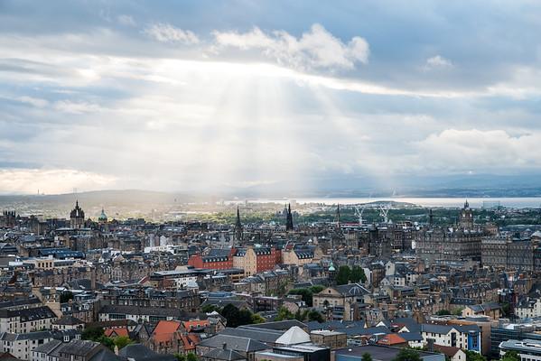 Sunbeams over the North of Edinburgh