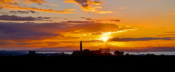 Midsummer Sunset behind Calton